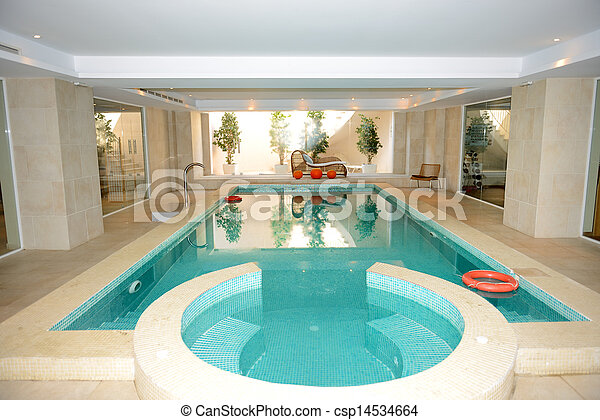 Banco de imagem - natação, piscina, jacuzzi, spa, luxo ...