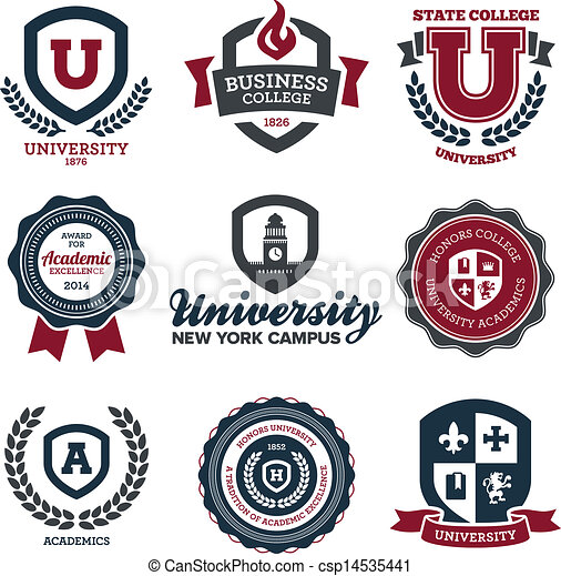 University and college crests University Logo Vector