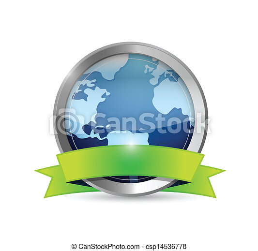 Earth And Environment Banner illustration - csp14536778