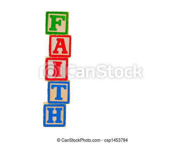 Faith Letter Blocks 2 - csp1453794