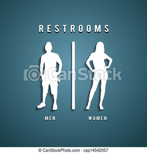 Restroom Symbols Vector Restroom Signs Clipart Vector