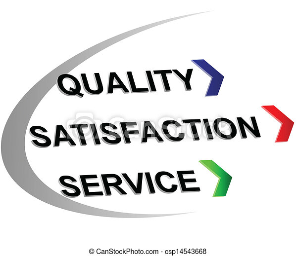 Clipart Vector of Quality,satisfaction,service - Label ...