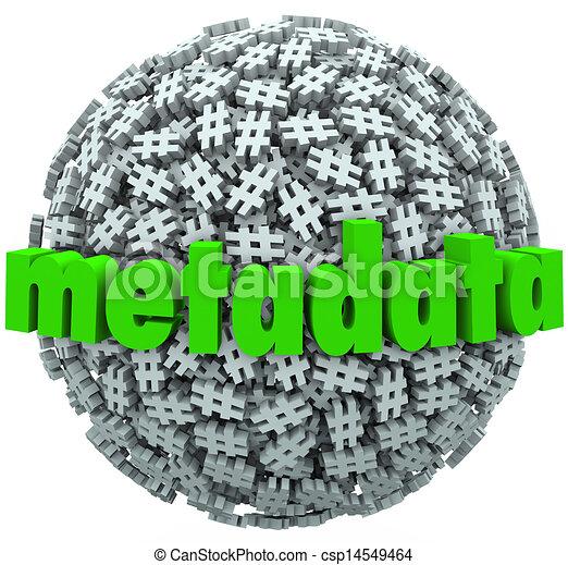 Meta Data Number Pound Hash Tag Sphere Metadata Hashtags - csp14549464