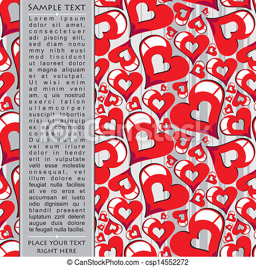 Heart Valentines Day background - csp14552272