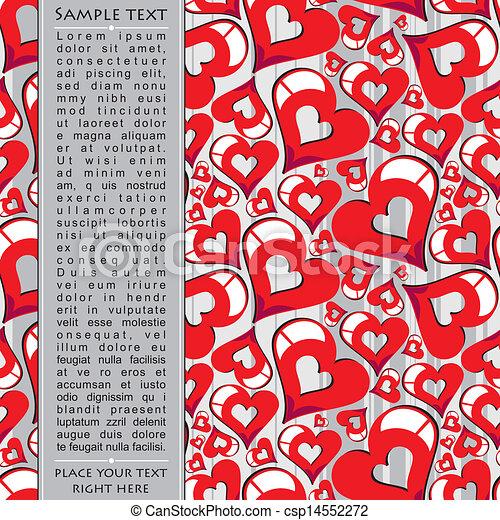 Heart Valentines Day background - csp14552272
