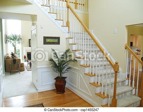 image de maison accueil a foyer dans a moderne am ricain csp1455247 recherchez des. Black Bedroom Furniture Sets. Home Design Ideas