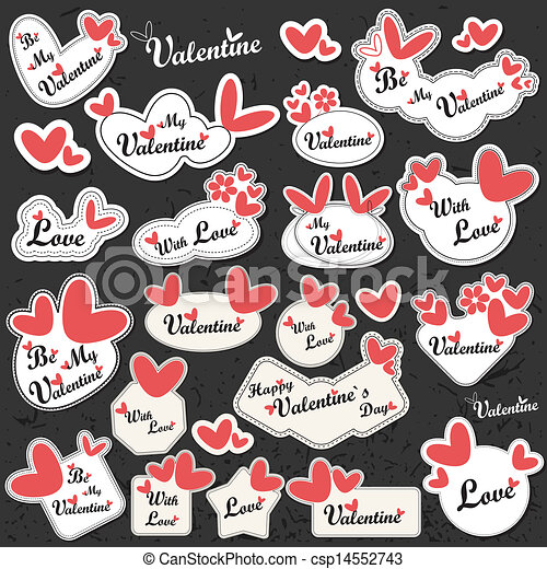 Valentine`s Day label - csp14552743