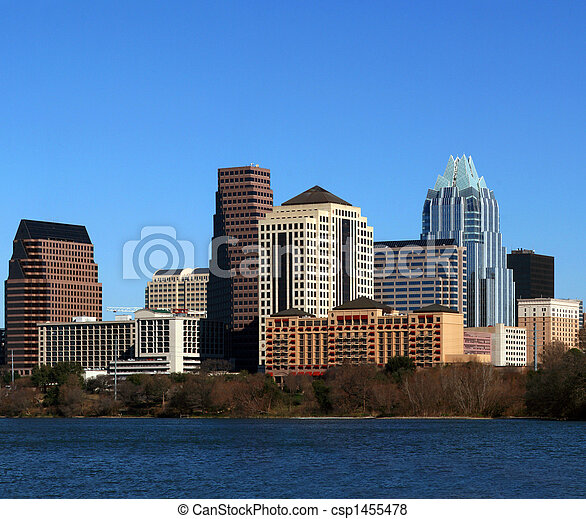 Downtown Austin Texas Cityscape - csp1455478