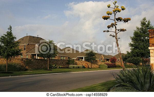 Residential street - csp14558929