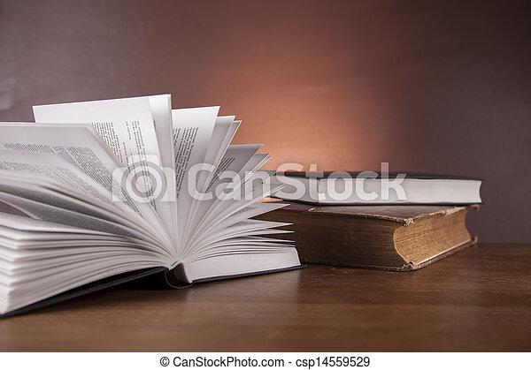 firma, madeira, lei, escrivaninha - csp14559529