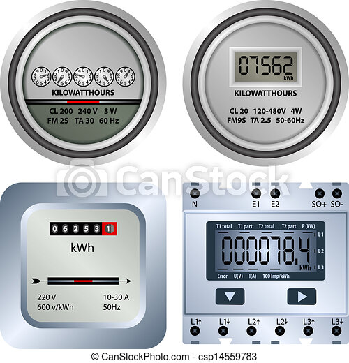 Meter Icon Vector Vector Electric Meter