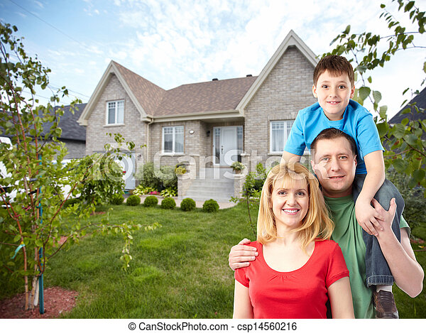 Happy family home free photos
