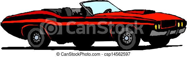 vintage retro automobile - csp14562597