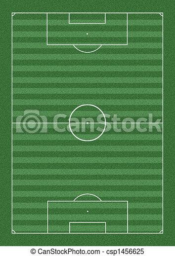 サッカー, ピッチ, イラスト - csp1456625