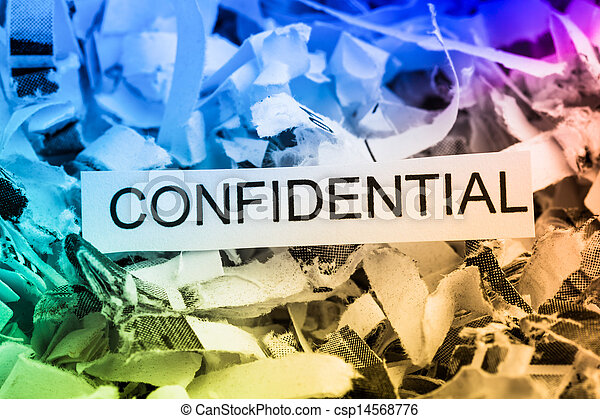 shredded paper confidential