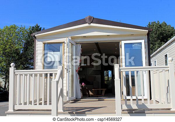 Caravan in trailer park - csp14569327