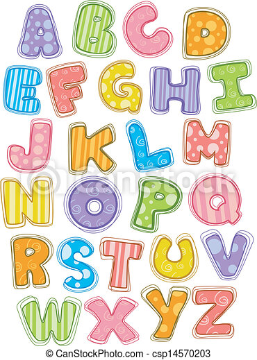 Can Stock Photo Lettering Capital Doodle