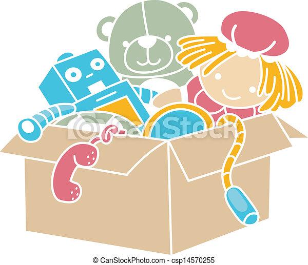 Box of Toys Stencil - csp14570255