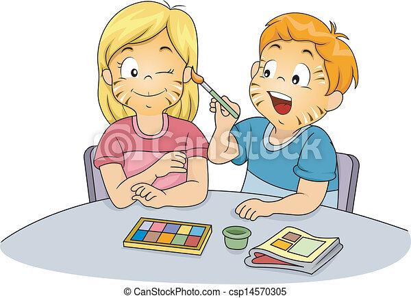 Face painting Illustrations and Clipart. 21,665 Face painting ...