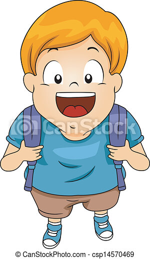 Clip Art Vector Of Kid Boy Student With Backpack 3 Top