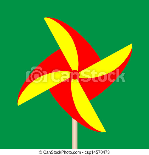 Colorful Paper Windmill - csp14570473