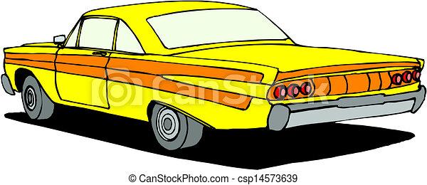 vintage retro automobile - csp14573639