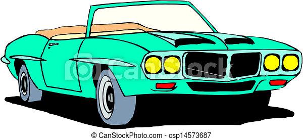 vintage retro automobile - csp14573687