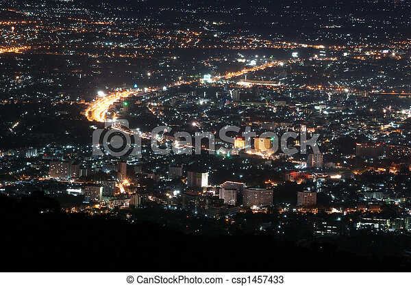 Chiang Mai Nightscape - csp1457433