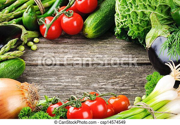 夏天, 框架, 有机, 蔬菜, 新鮮 - csp14574549