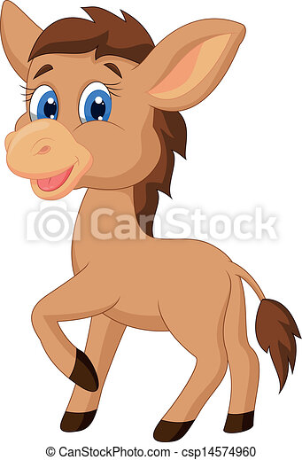 Cute horse cartoon - csp14574960