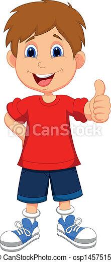 cartoon boy giving you thumbs up csp14575156 - Cartoon Kid Drawings