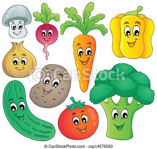 clipart vector of vegetable theme collection 4   eps10