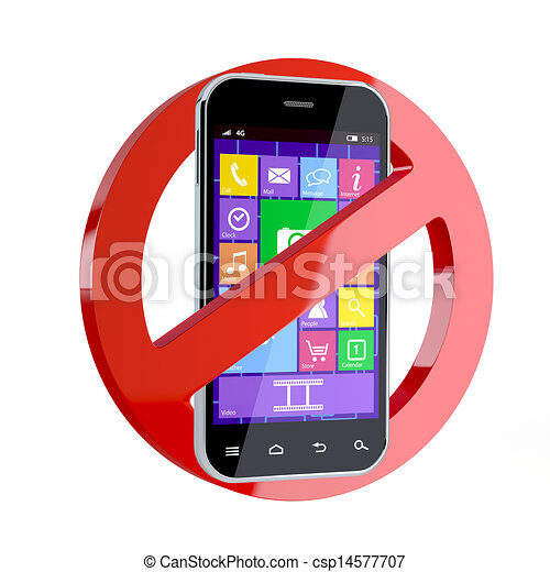 No cell phone sign - csp14577707
