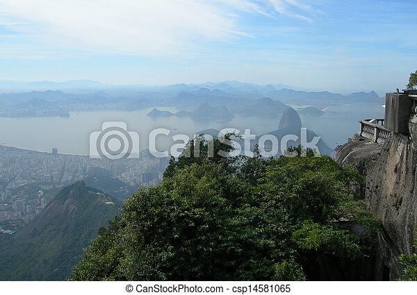 Aerial of Rio de Janeiro          - csp14581065