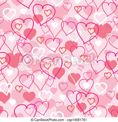 Valentine's Day hearts seamless pattern background - csp14581761