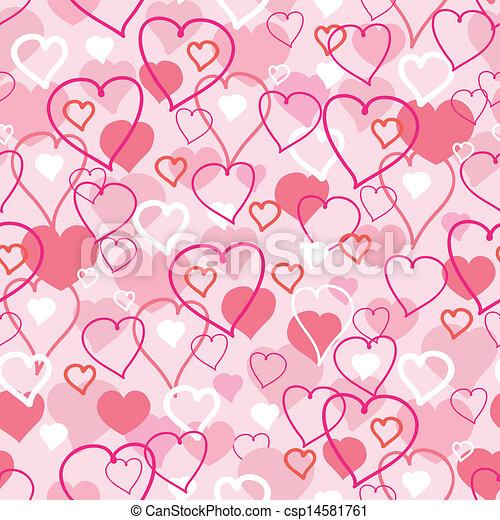Valentine's Day hearts seamless pattern background - csp14581761