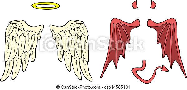 Clipart vecteur de dessin anim ailes dessin anim - Dessin ange demon ...