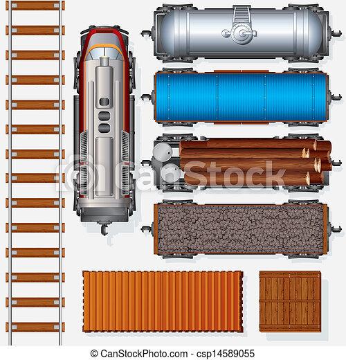 Railroad Cargo Train - csp14589055