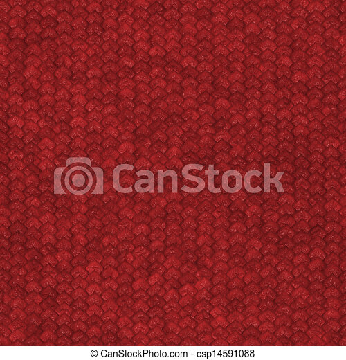 Seamless red dragon scale pattern - csp14591088