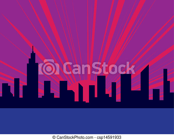 Sunset City Building Sunset City Purple