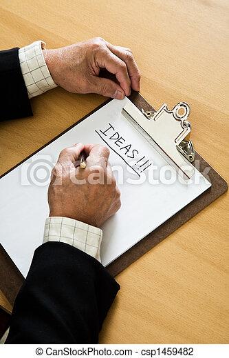 Businessman brainstorming - csp1459482