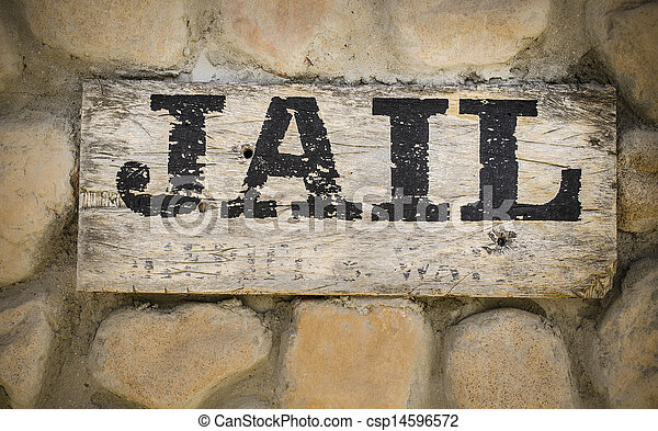 Jail sign wild west - csp14596572