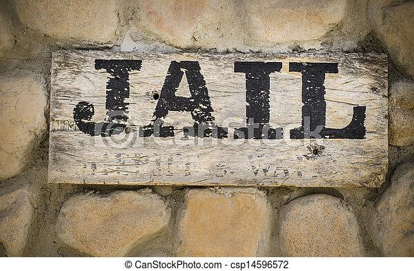 Jail sign wild west - csp14596572