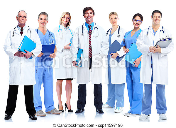 Group of medical doctor. - csp14597196