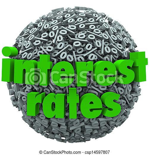 Interest Rates Percent Sign Symbol Sphere Mortgage Loan - csp14597807