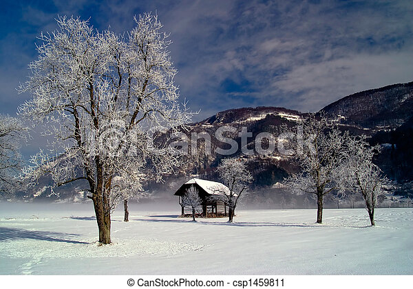paisagem inverno - csp1459811