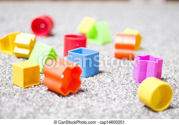 colorful toy blocks - csp14600251