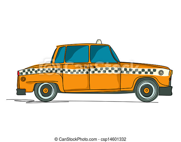 EPS Vectors of New York yellow taxi cab. Vector ... |Yellow Taxi Cab Drawing