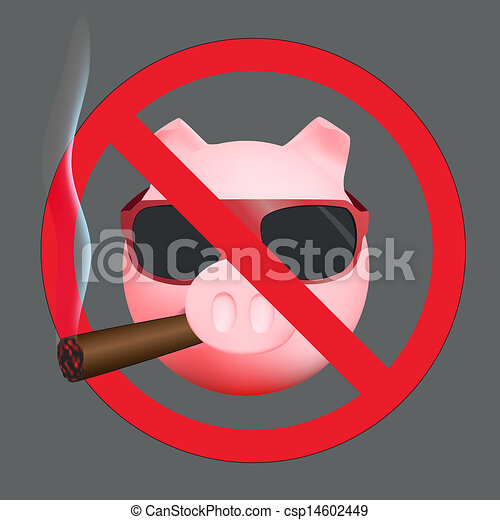 eps vector of sign no smoking funny sign no smoke with