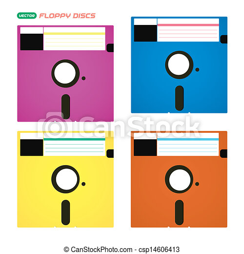 Colorful Floppy Vector Colorful Floppy Disks